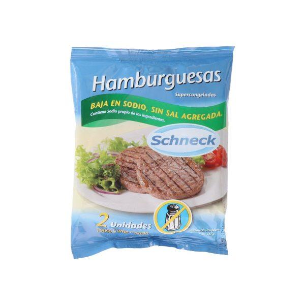 paquete de hamburguesas clásicas sin sal schneck