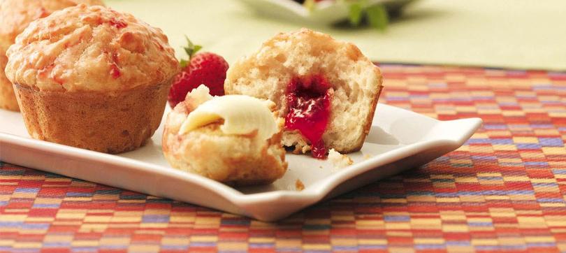 muffins con mermelada de frutilla en jamón y eso