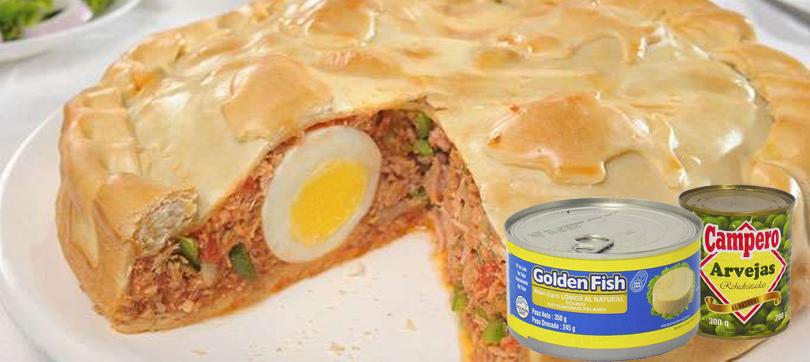 tarta de atún en jamón y eso