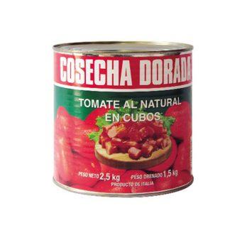 tomate en cubos cosecha dorada